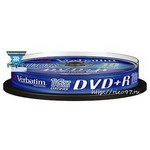 Диск DVD+R Verbatim 4.7Gb 16x Cake Box (10шт) (43498)
